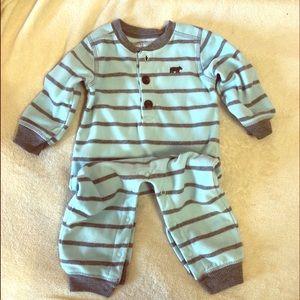 Carters 12 month, boys sleeper blue fleece